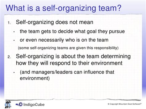 notes to a software team leader growing self organizing teams books leading a self organising team