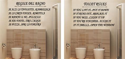adesivi murali per bagno wall stickers murali regole bagno adesivo casa toilet