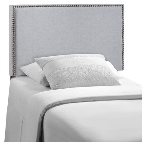 upholstered headboards twin region twin nailhead upholstered headboard sky gray