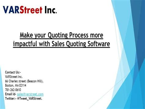 Make Your Quoting Process More Impactful With Sales Quoting Softwa Authorstream Impactful Powerpoint Templates