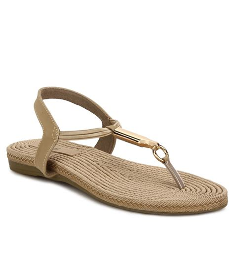 Sandal Wanita Ina Flat Shoes Beige inc 5 beige flat sandals price in india buy inc 5 beige flat sandals at snapdeal