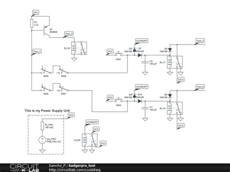 push button selector switch schematic operational power
