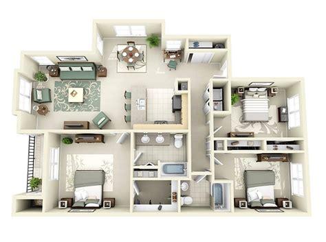 20 denah rumah sederhana 3 kamar tidur 3 dimensi 2017 dekor rumah