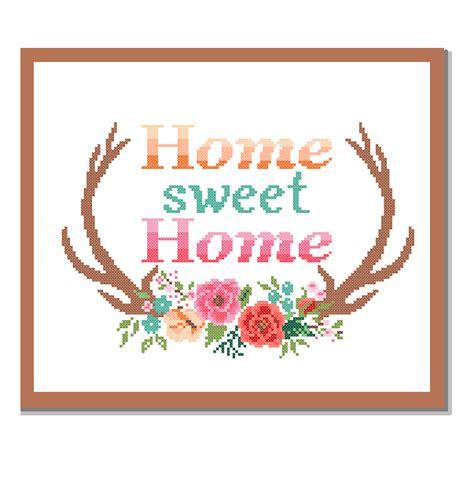 modern cross stitch pattern home sweet home cross stitch
