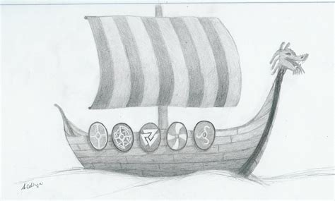 how to draw a longboat viking longship by hector llg on deviantart