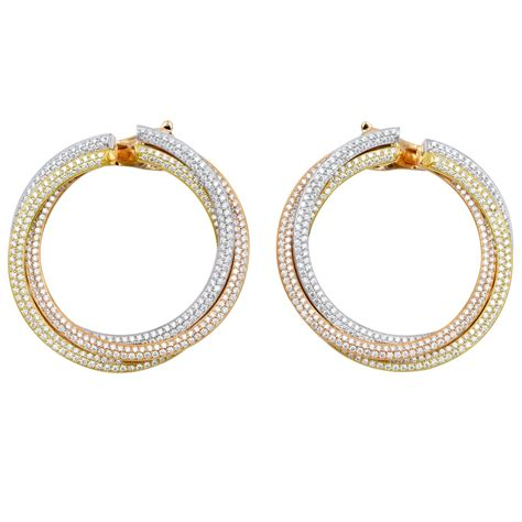 Hoop Earrings With cartier tricolor gold hoop earrings for
