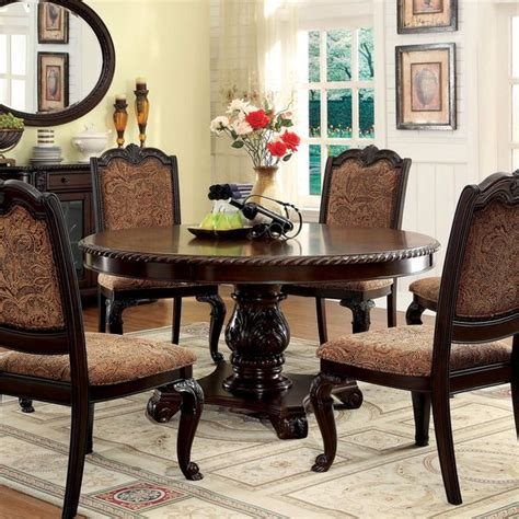 Dining Room Furniture Deals Furniture Of America Oskarre Brown Cherry Dining
