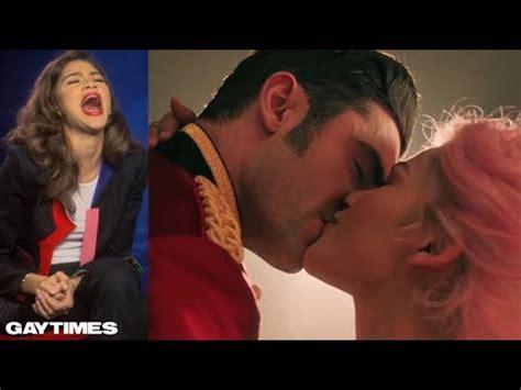 zac efron youtube greatest showman zendaya on the greatest showman and kissing zac efron