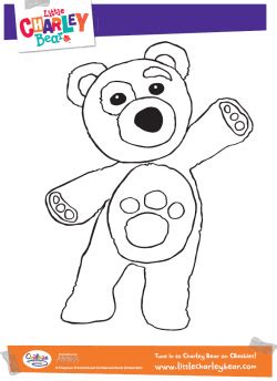 charlie bear coloring pages little charley bear colouring pages
