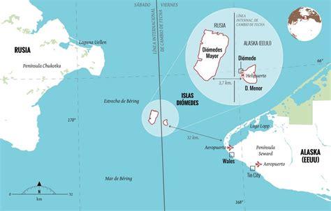 mapa del estrecho de bering las islas di 211 medes alta 239 r magazine