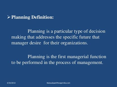 Business Notes For Mba Ppt by Business Planning Ppt Of Mamagement Behavioural Process Mba