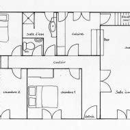 Plan De Maison Simple 3 Chambres En Tunisie by Plan Maison Plain Pied 3d Gratuit