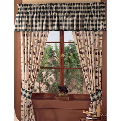 rustic curtains cabin window treatments northern exposure window treatments