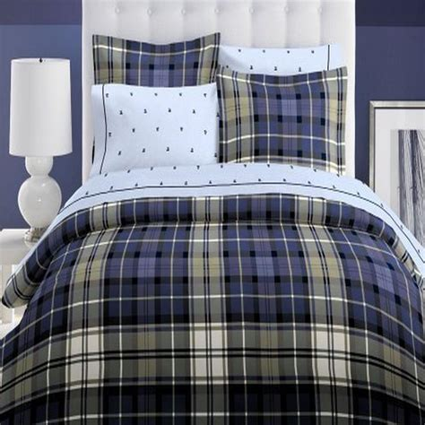 twin plaid comforter tommy hilfiger winthrop twin comforter blue plaid ebay