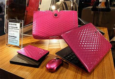A Girly Laptop In Leather By Asus by Pretty Pink Portables The Karim Rashid Laptop For Asus Is