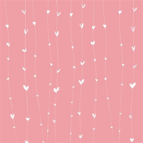 girly wallpaper ai roze harten achtergrond vector gratis download
