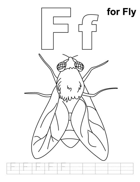 fly coloring pages az coloring pages