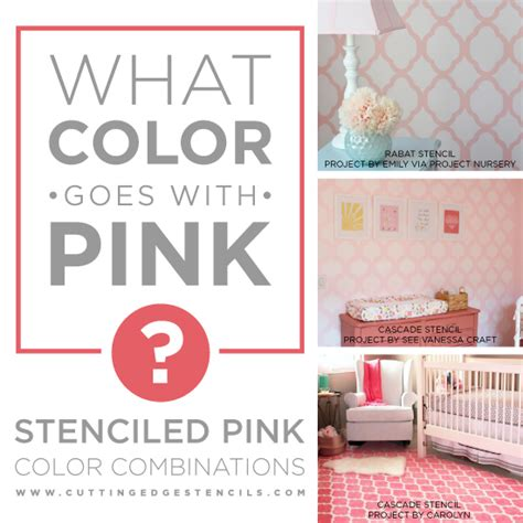 what color goes with pink stenciled pink color combinations