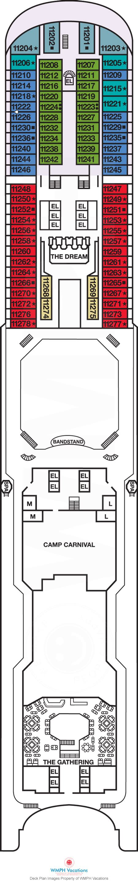 carnival dream floor plan carnival dream deck plans panorama what s on panorama