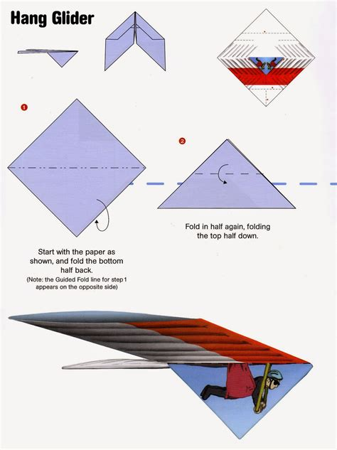 Paper Folding Aeroplane - how to fold a hang glider paper airplane from the kit fold