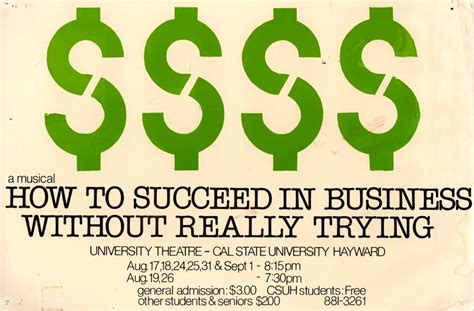 summer repertory theatre 1979 how to succeed in business