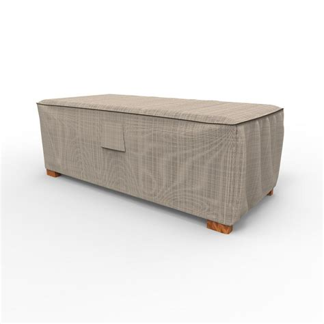 Patio Coffee Table Cover Budge Garden Large Slim Patio Ottoman Coffee Table Covers P4a04pm1 The Home Depot