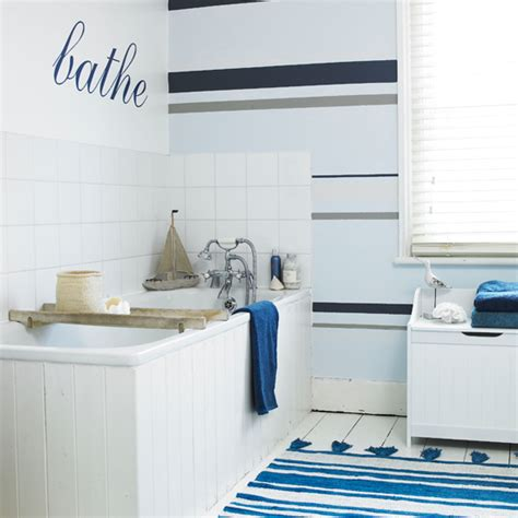 Striped Wallpaper Bathroom Bathroom Wallpapers Ideal Home