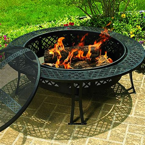 Diamond Wood Burning Fire Pit Firepit Wood
