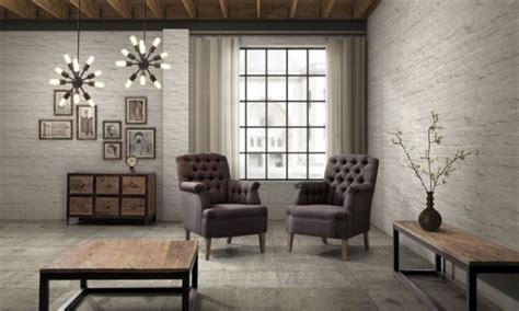 Vintage Style And Industrial Loft Accents For A Bachelor S Industrial Style Living Room Furniture