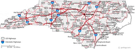 map of carolina cities related keywords suggestions for nc interstates