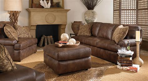 Leather Sofa In Living Room Amusing Leather Living Room Sets For Home Leather Living Room Furniture Brown Leather Living