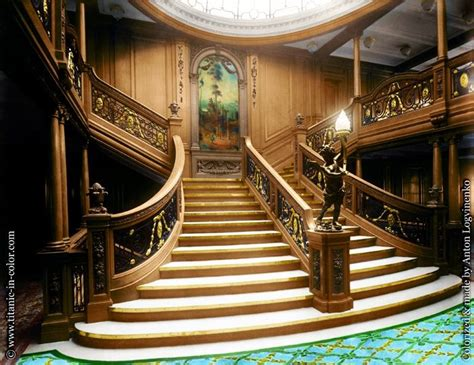 Titanic Interior by Titanic In Color Past And Present Then And Now