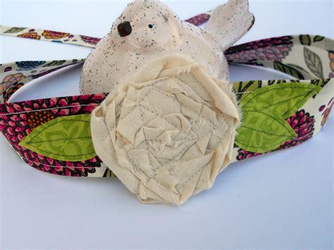 fabric headbands pattern pdf pattern and tutorial for fabric flower headband