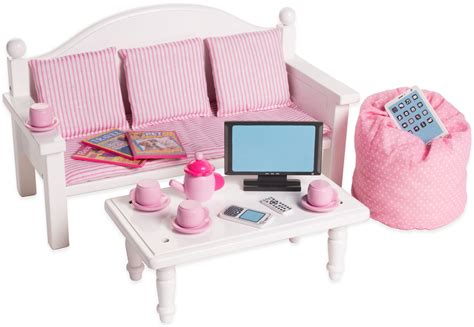 18 inch doll desk set amazon com 18 inch doll furniture bed set w accessories