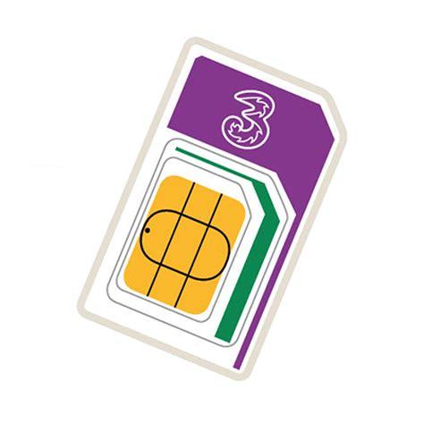 3g sim card into 4g template three 3g 4g pay as you go trio sim card 12gb preloaded