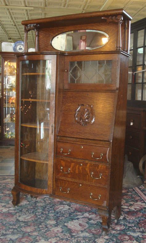 secretary desk with bookcase antique victorian 1890 s larkin tiger oak by