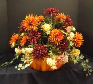 Fall floral arrangement pumpkin centerpiece fall by luxewreaths