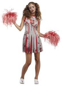 Zombie Cheerleader Costume Undead Zombie Cheerleader Halloween Fancy Dress