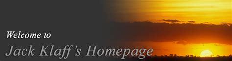 klaff s jack klaff s homepage