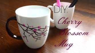 Mug Design Ideas by Diy Gift Idea Cherry Blossom Mug Youtube
