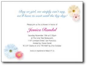 baby shower invitation wording for a gangcraft net