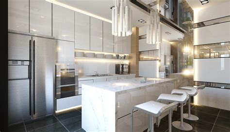 modern wet kitchen design 30 kitchens from malaysian interior designers