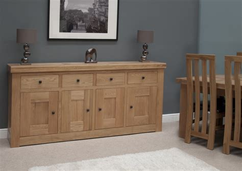 Dining Room Furniture Sideboard Belgrave Solid Premium Oak Dining Room Furniture Large Storage Sideboard