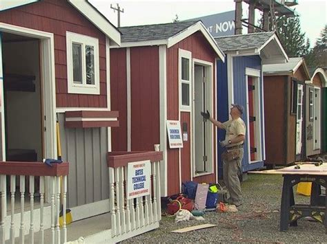 new tiny house neighborhood will allow homeless to rent to own north seattle homeless tiny house village to open