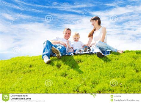Happy Family On Grass Stock Image Image Of Joyful Happy 11828059 Genealogy Stock Photos Royalty Free
