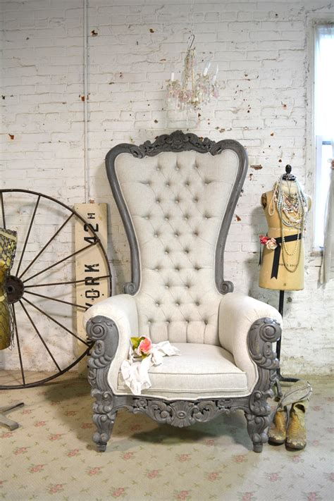 painted cottage chic shabby french upholstered tufted