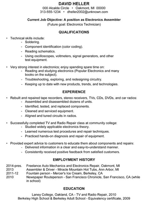 Sample Resume Objectives For Manufacturing achievement resume samples archives damn good resume guide
