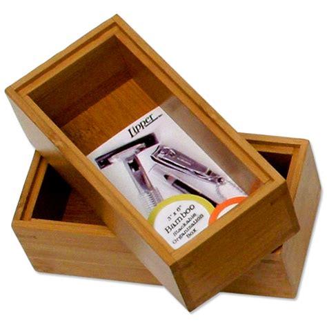 stackable desk organizer stackable bamboo desktop organizer 6 inch set of 2 in