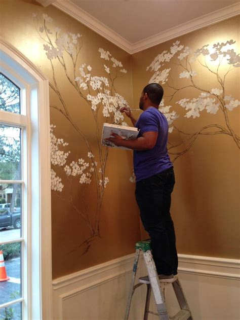 painting murals on walls 17 best ideas about gold wall on diy