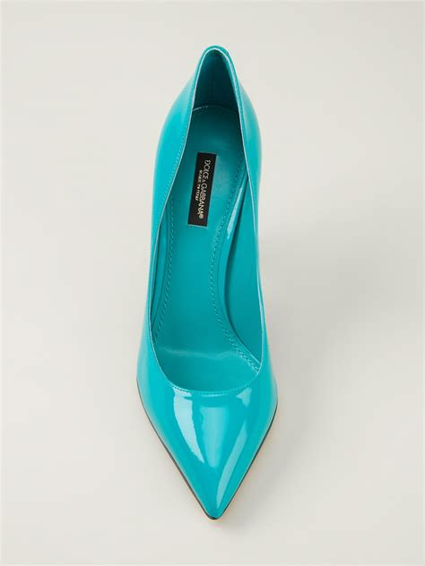 blue high heel pumps dolce gabbana high heel pumps in blue lyst